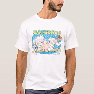 T-shirt La chemise des hommes de groupe d'acres des