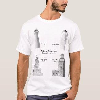 T-shirt La chemise des hommes de phares de New Jersey