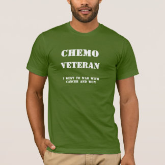 T-shirt La chemise des hommes de vétéran de chimio
