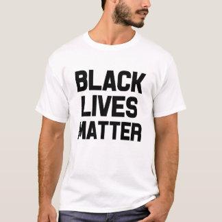 T-shirt La chemise des vies des hommes noirs de matière