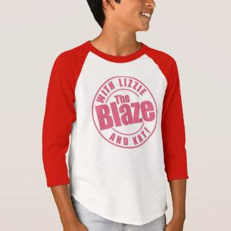 T-shirt La chemise du base-ball des enfants de flamme