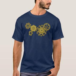 T-shirt La chemise foncée des hommes tissés de rouages
