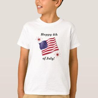 T-shirt La chemise heureuse de l'enfant 4 juillet
