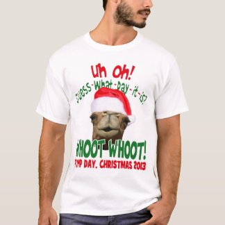 T-shirt La chemise originale de Père Noël de chameau de