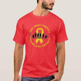 T-shirt La chemise rouge vendredi soutiennent notre