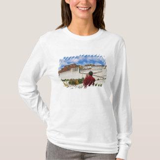 T-shirt La Chine, Thibet, Lhasa, moine tibétain avec
