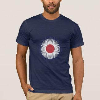 T-shirt La cible de mod pointille la pièce en t tramée