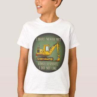T-shirt La citation défonceuse d'opérateur de pelle badine