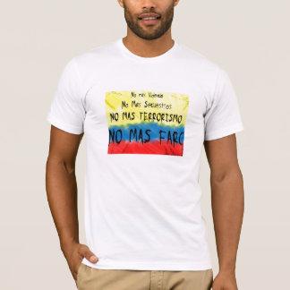 T-shirt La Colombie contre le farc de las