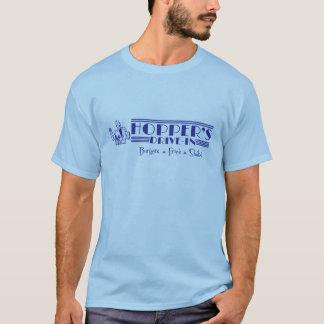 T-shirt La commande de la trémie dans le bleu