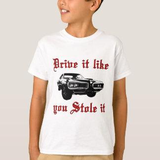 T-shirt La commande qu'il vous aiment l'a volé - muscle la