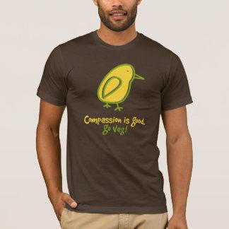 T-shirt La compassion est bonne. Disparaissent Veg.