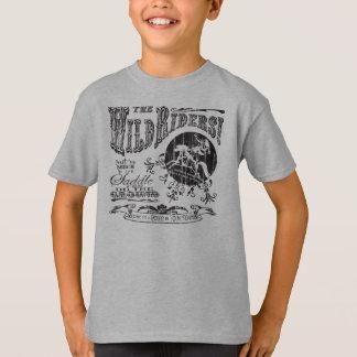 T-shirt La conception sauvage de noir de la jeunesse de