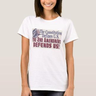 T-shirt La constitution définit l'amendement des