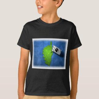 T-shirt La Corse avec son propre drapeau