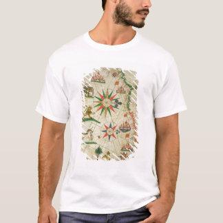 T-shirt La côte africaine du nord, d'un atlas nautique