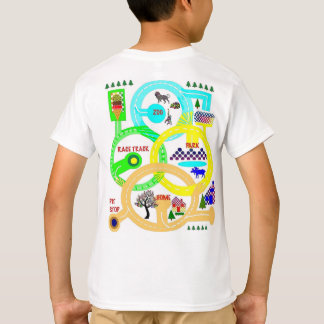 T-shirt La course est allumée - chemise de carte