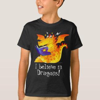 T-shirt La coutume de l'enfant que je crois aux dragons