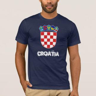 T-shirt La Croatie avec le manteau des bras
