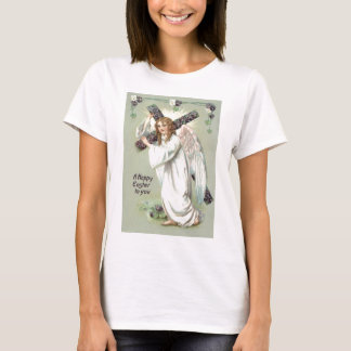 T-shirt La croix chrétienne d'ange m'oublient pas
