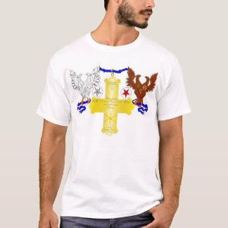 T-shirt La croix rose grande