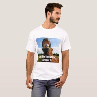 T-shirt La dent bleue a permis le cheval