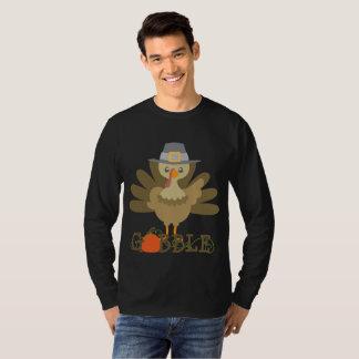 T-shirt La dinde de thanksgiving de l'amusement des hommes