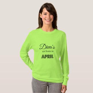 T-shirt La diva sont née en avril