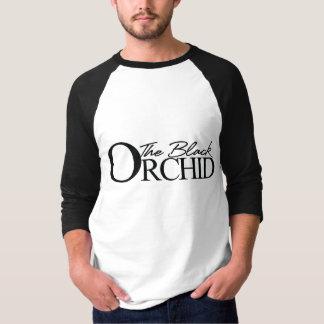 T-shirt La douille noire Jersey de l'orchidée 3/4