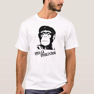 T-shirt La Evolucion - chimpanzé de vivats