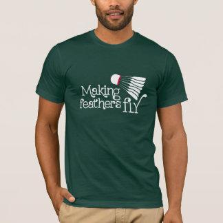 T-shirt La fabrication du badminton de mouche de plume