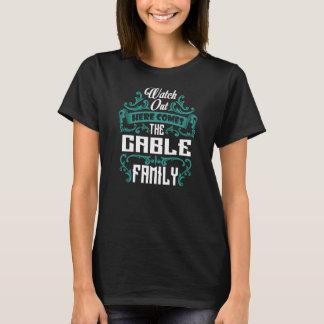 T-shirt La famille de CÂBLE. Anniversaire de cadeau