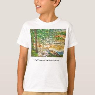 T-shirt La femme sur le rivage