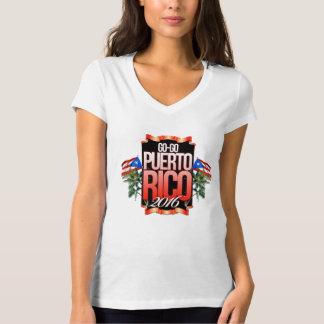 T-shirt La femme Vont-GoPuertoRico chemise de V-cou