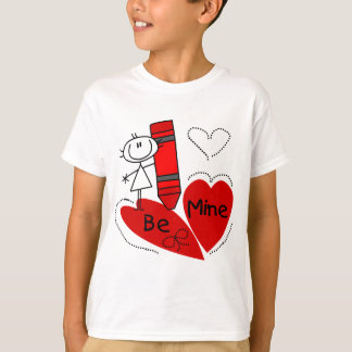T-shirt La fille de bâton soit à moi Valentine