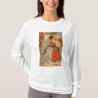 T-shirt La fille de cirque - éléphant et singe de