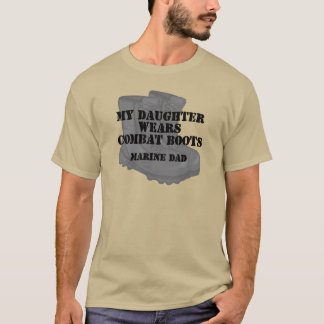 T-shirt La fille marine de papa porte des CB
