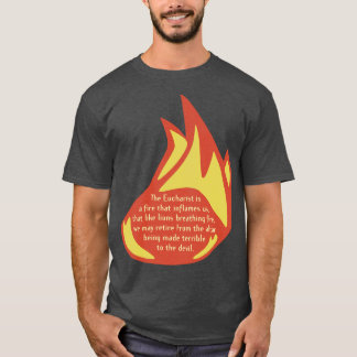 T-shirt La flamme d'eucharistie affrontent complètement