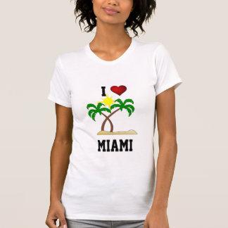 T-shirt La Floride : J'aime Miami - les palmiers et le