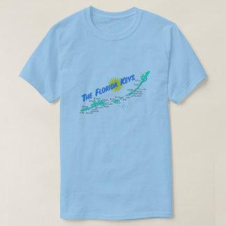 T-shirt La Floride verrouille la rétro illustration de
