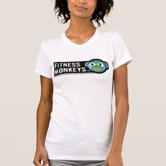 T-shirt la forme physique des femmes mignonnes monkeys la