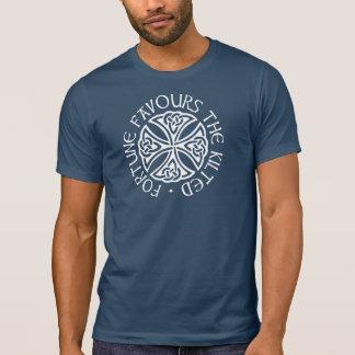 T-shirt La fortune favorise l'en kilt - bleu