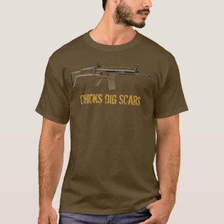 T-shirt La fouille de poussins (F-N) marque (la lumière)