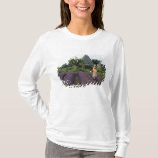 T-shirt La France, PACA, Vaucluse, femme dans une lavande