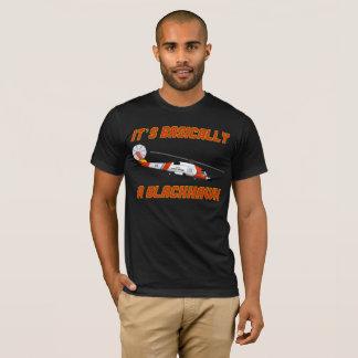 """T-shirt La garde côtière """"fondamentalement un Blackhawk"""""""