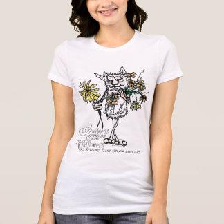 T-shirt La gentillesse aiment des fleurs sauvages