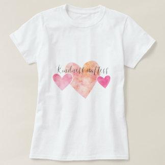 T-shirt La gentillesse importe les coeurs roses