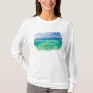 T-shirt La Grande barrière de corail, vue aérienne du vert