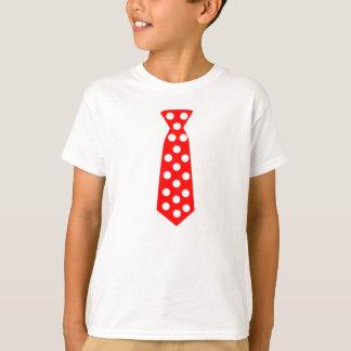 T-shirt La grande cravate rouge et blanche de point de