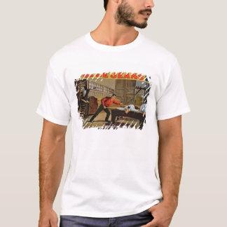 """T-shirt """"La grande scène de scierie"""", affiche pour des"""